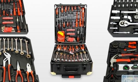 Valise à outils de 186 pièces