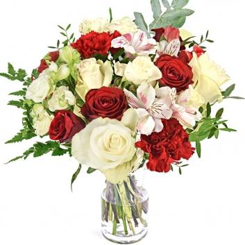 Saint valentin - bouquets de fleurs et de roses