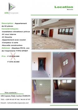 Appartement de 2 pièce à Pk10
