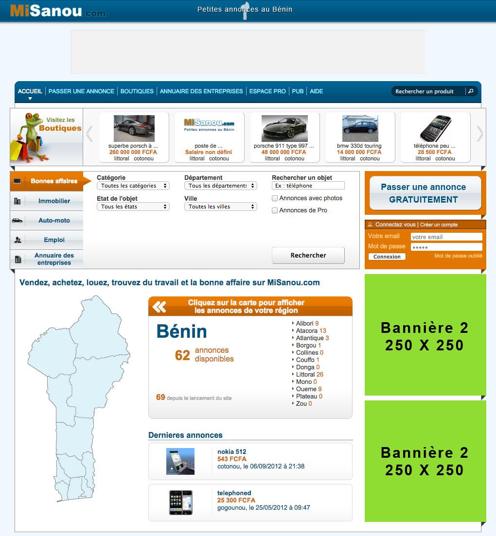 Préférence MiSanou.com : Petites annonces gratuites au Bénin -> Passer de la  PU94